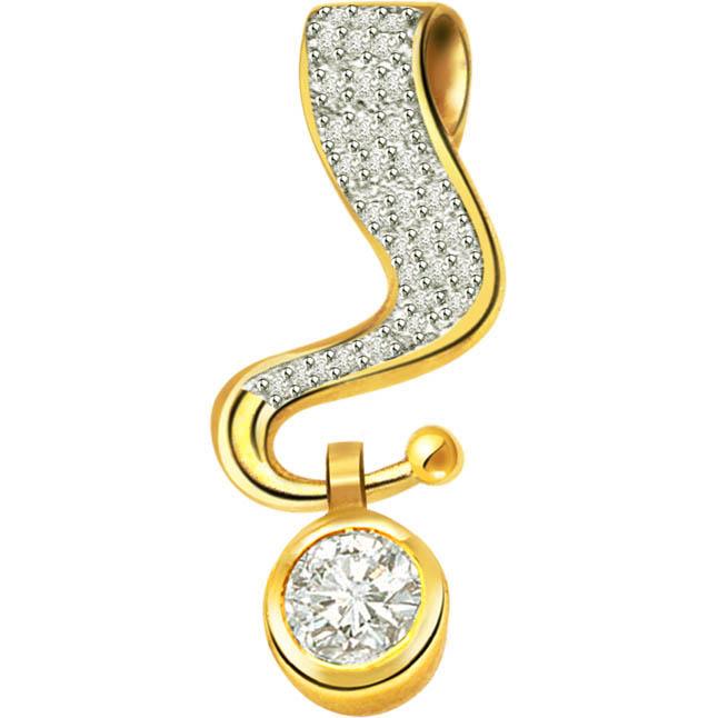 Sparkling Surprise Diamond Pendants -Solitaire