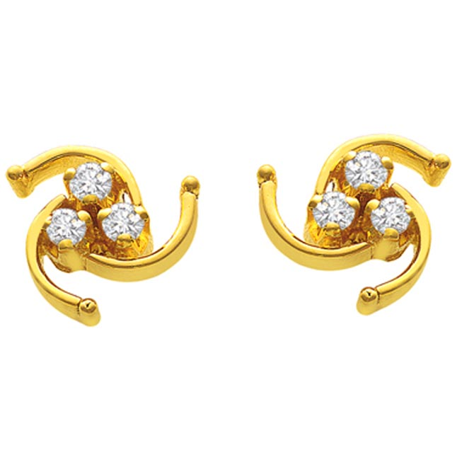 Spiral Siren Diamond Earrings -Designer Earrings