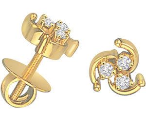 Spiral Siren Diamond Earrings -Designer Earrings