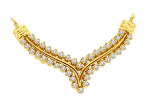 Spiritual Spiral Knot 0.96 cts Diamond Necklace Pendants Necklaces