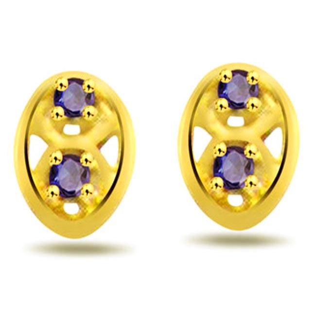 Star Pinwheel 0.60 ct Round Sapphire Earrings -Dia & Gemstone