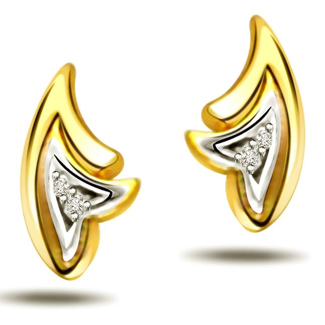 Starry Eyes ER -76 -Two Tone Earrings