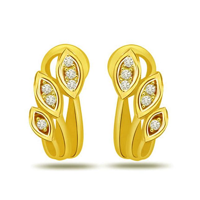 Starry Love 0.12ct Diamond Earrings -Designer Earrings