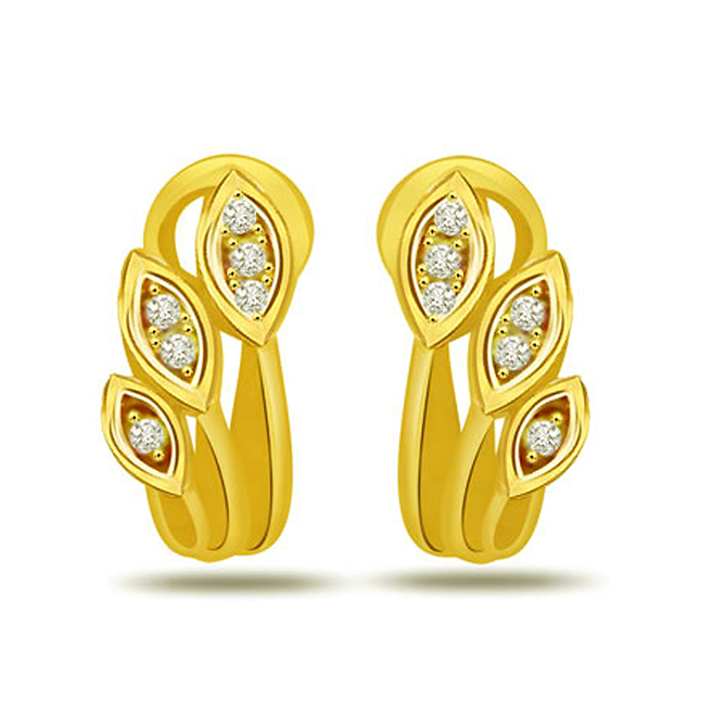Starry Love 0.12ct Diamond Earrings -Designer Earrings