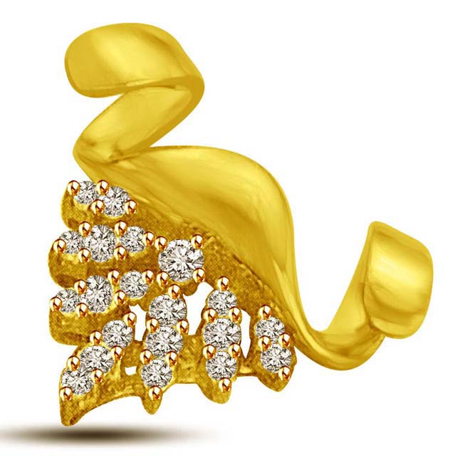 Stars All Around 0.25ct Diamond & Gold Pendants -Designer Pendants