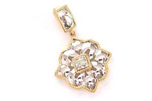 Stars in her eyes -Two Toned Diamond Pendants