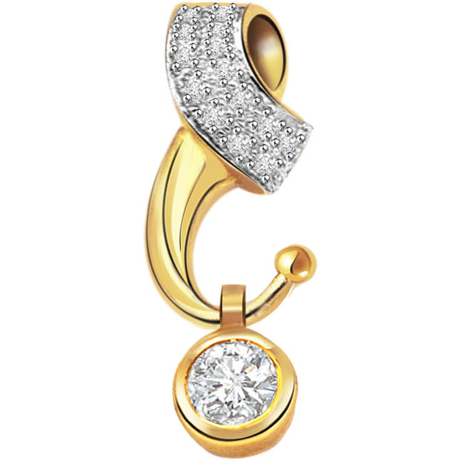 Style Of Solitaire Diamond Pendants -Solitaire