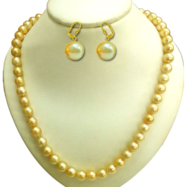 Sunshine Pearls to Epitomize the Luxury -Pearl Set