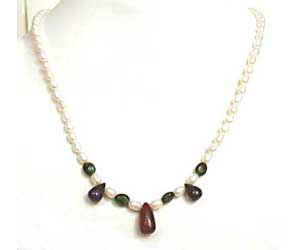 Surreal Beauty -Precious Stone Necklace