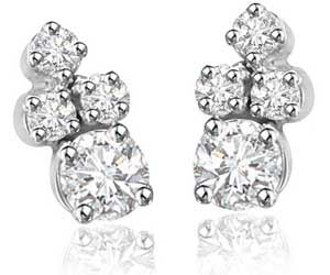 Surreal Studs ER -65 -White Rhodium