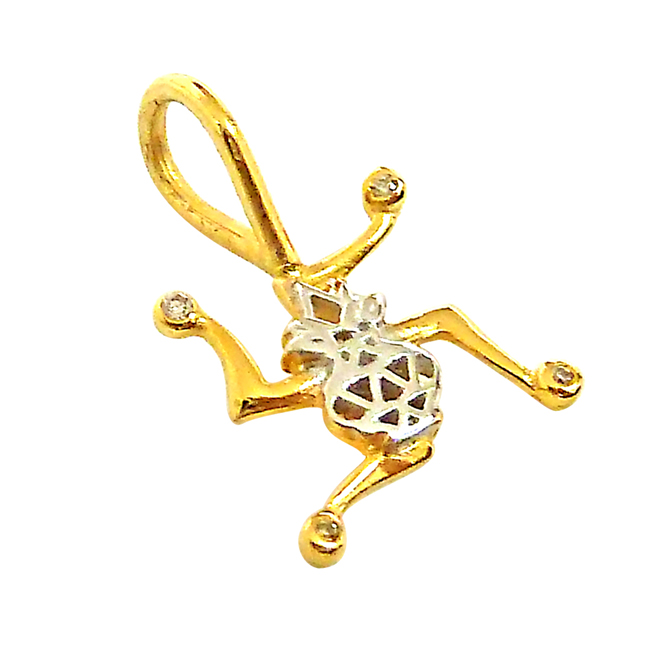 Swastik -Kalash -Diamond Gold Pendants with Gold Plated Chain -Religious