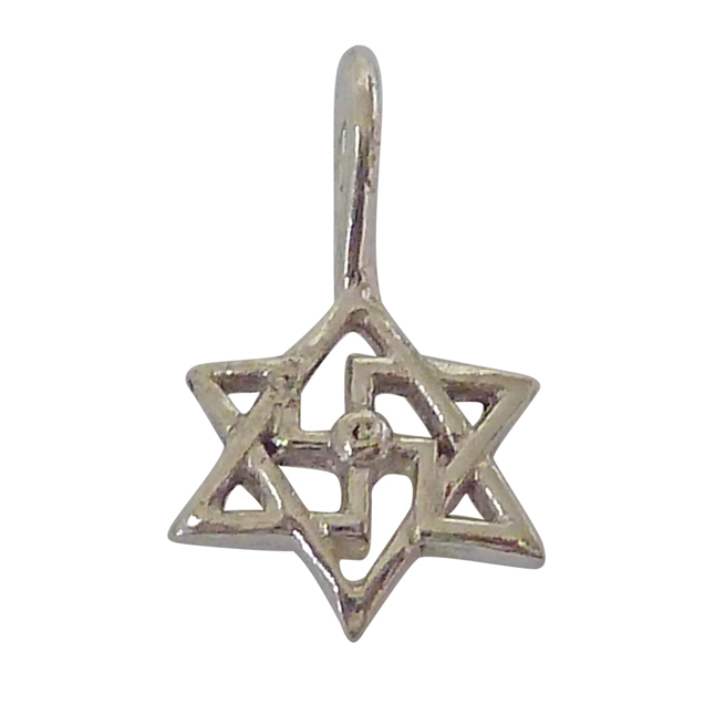 Swastik Pendants in Sterling Silver with Chain for Children -Religious
