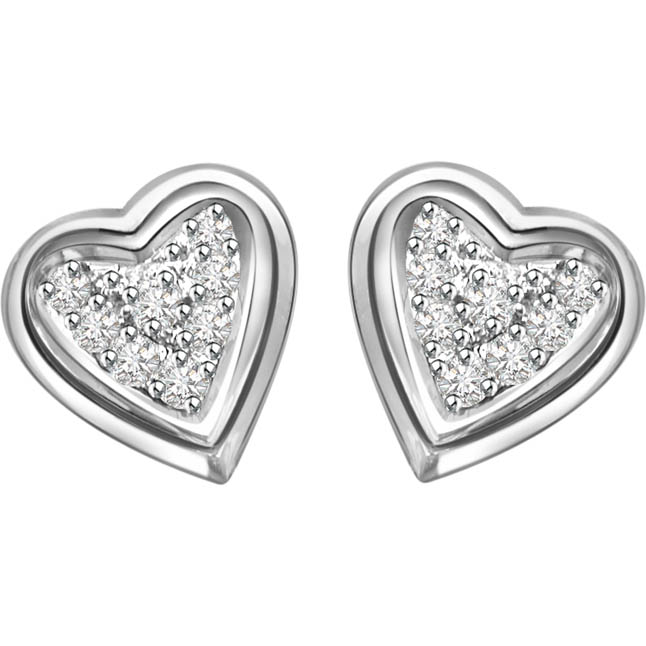 Sweetheart Diamond Earrings -Heart Shape Earrings