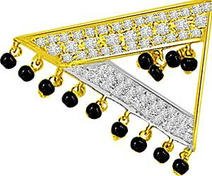 Symbol Of Energy Diamond Mangalsutra Pendants