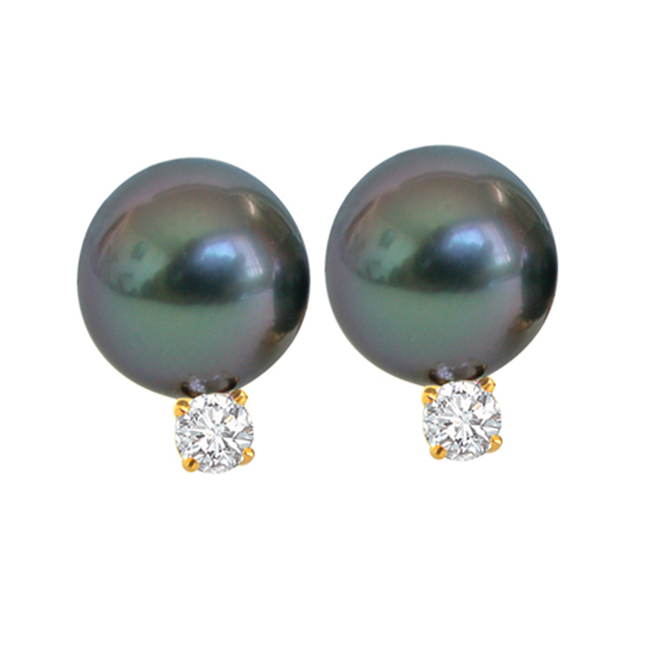 Tahitian Temptress Pearl Earrings -Tahitian Pearl Earrings