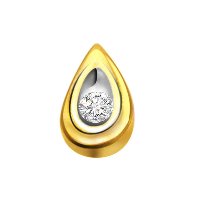 Tear Drop 0.06 ct Diamond Pendants P382
