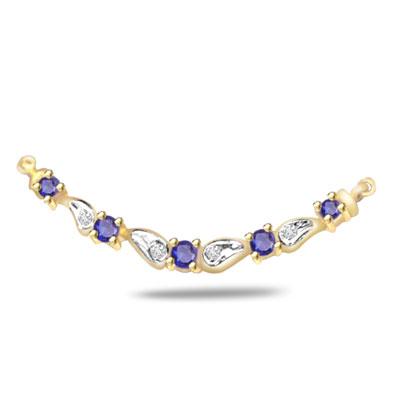 The Eternal Bond 0.10ct Diamond & Sapphire Necklace Pendants Necklaces