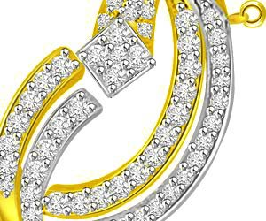 The Garden of Eden 0.65ct Circle Of Life Diamond & Gold Pendants -Designer Pendants