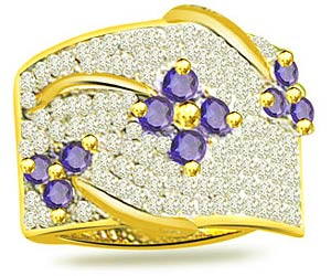 Three Flower 0.50 cts Diamond & Sapphire rings
