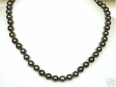 Tahitian pearl Black Magic -Single Line