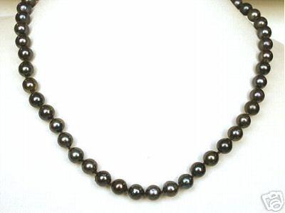 Tahitian pearl Black Magic -Single Line