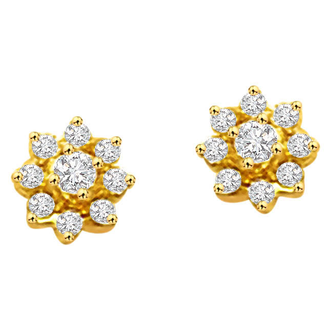 Timeless two ER -98 -Flower Shape Earrings