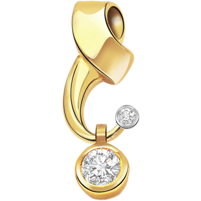 Timeless Creation Diamond Solitaire Pendants P253 -Solitaire
