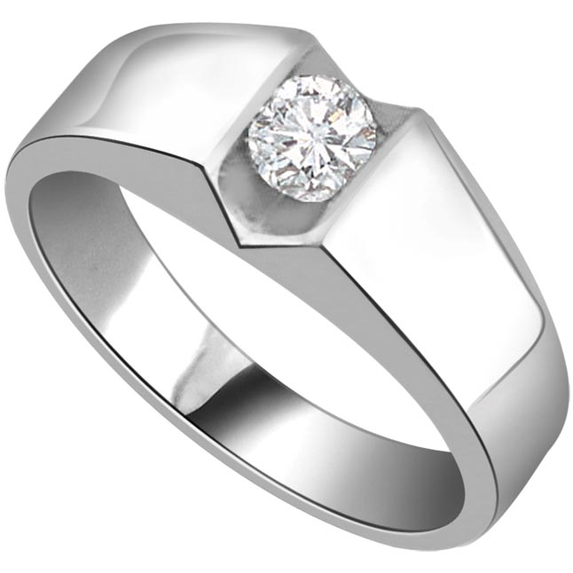 Trendy 1.00cts Diamond Solitaire rings -White Gold Big Sol