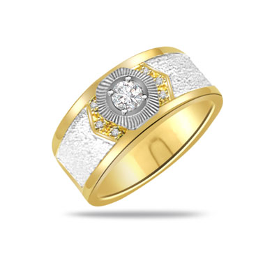 Trendy Diamond 18kt Gold rings SDR1236 -White Yellow Gold rings