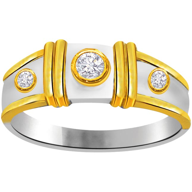 Trendy Diamond Gold rings SDR722 -3 Diamond rings