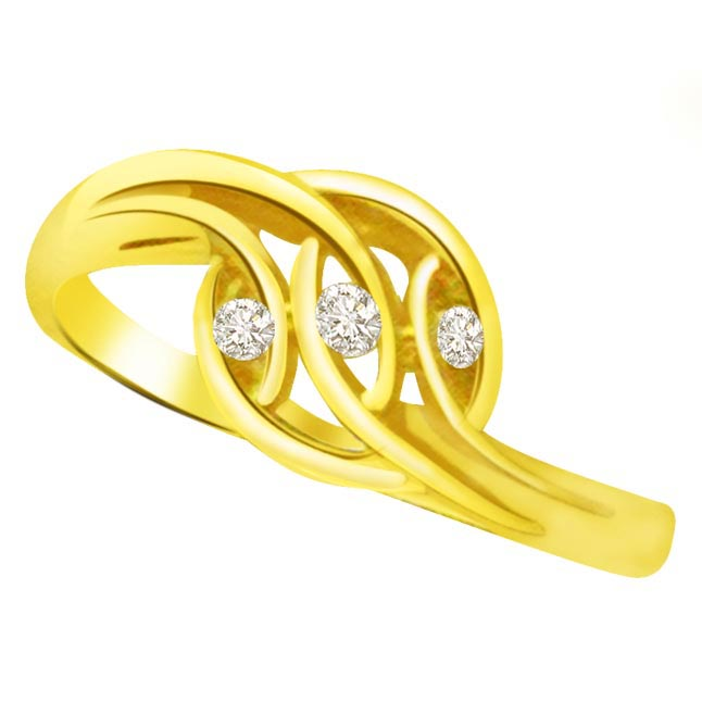 Trendy Diamond Gold rings SDR776 -3 Diamond rings