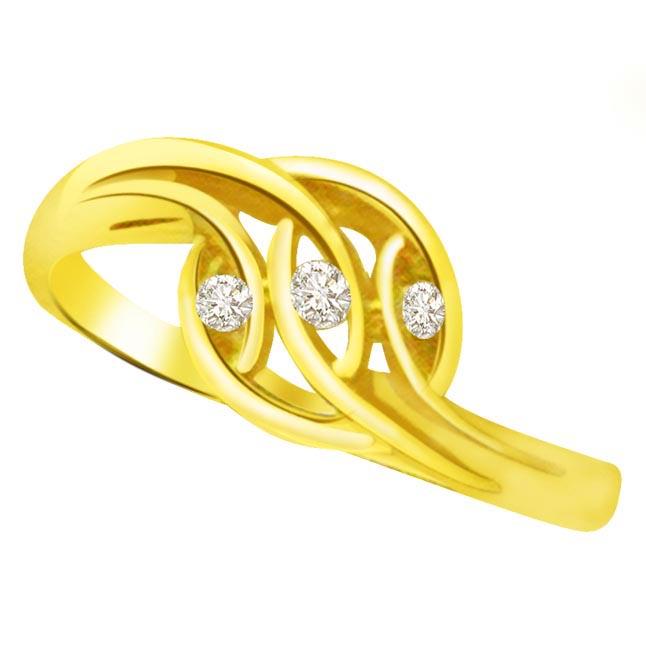 3 Diamond Rings Buy Trendy & Classic 18kt Diamond Gold Ring at