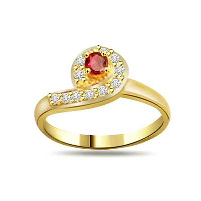Trendy Diamond & Ruby rings SDR991
