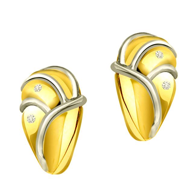 Triple Planted Studs 0.24 ct Diamond Bali Earrings -Balis & Hoops