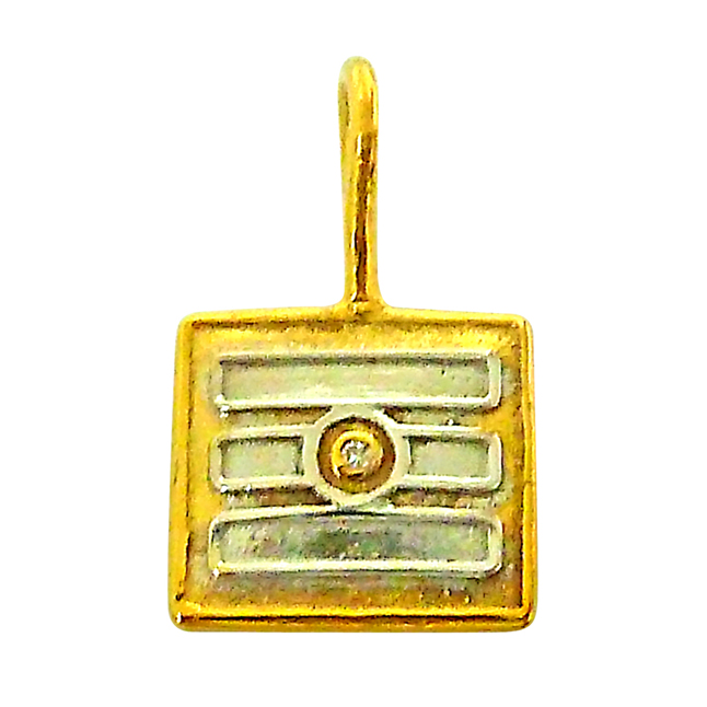 Tripundra -Diamond Gold Pendants with Gold Plated Chain -Religious