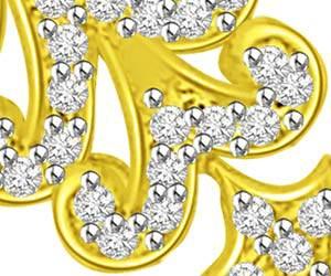 Trishul Flower 18kt Diamond & Gold Pendants Necklaces