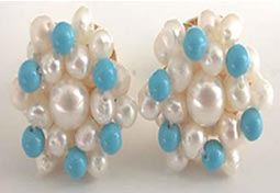 Turquoise Pearl Magic -Kudajodi