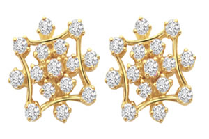 Twinkle Star Diamond Earrings ER -22 -Geometrical