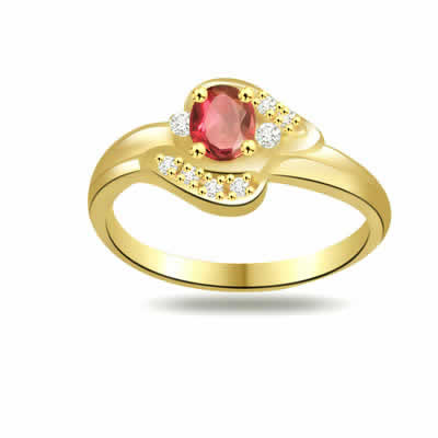 Twinkling Bouquet Trendy Diamond & Ruby rings SDR1028