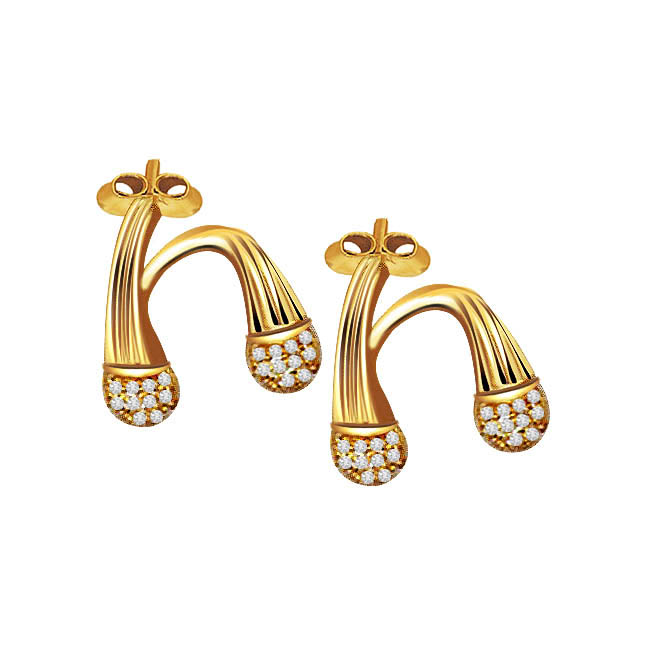 Twirl n Swirl Diamond Earrings -Designer Earrings