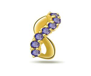 Twirl of Blue -0.21ct Sapphire Gold Pendants