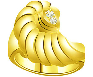 Two Diamond 0.05ct Fancy 18k rings