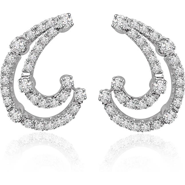 Two of A Kind -1.06ct Diamond Earrings -Designer Earrings