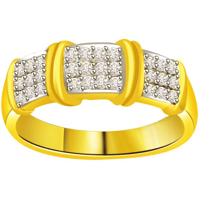 Two -Tone Diamond Gold rings SDR515 -White Yellow Gold rings