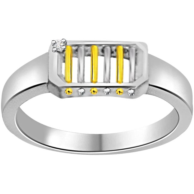 Two -Tone Diamond 14kt Gold rings