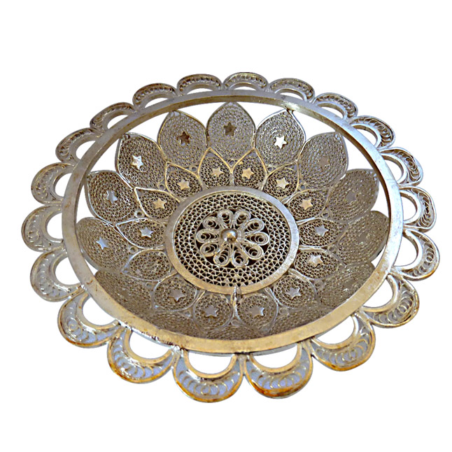 Unique Silver Filigree Bowl -Corporate Gifts