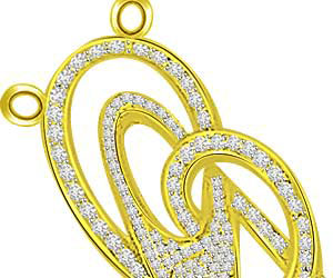 Unity Of Love 0.36ct Diamond Pendants -Designer Pendants