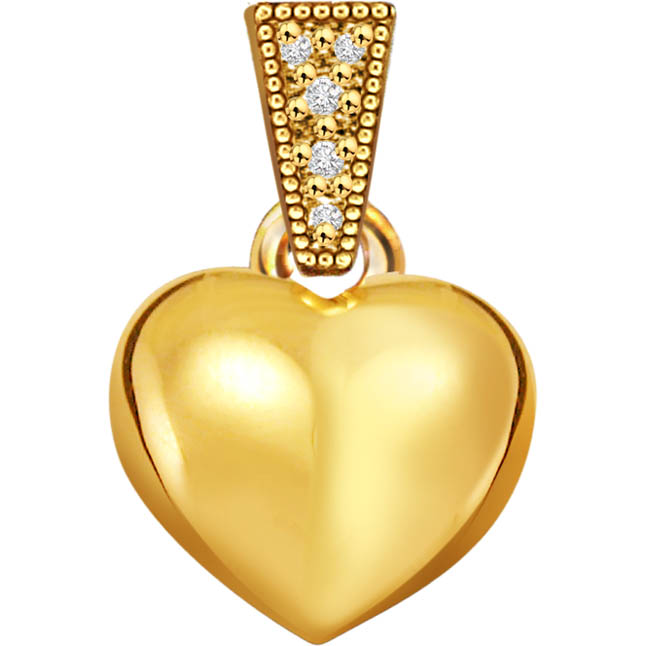 Volcano of Love Heart Shape Classic Diamond Pendants