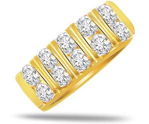 Vs Diamond Half Eternity B In 18k Gold