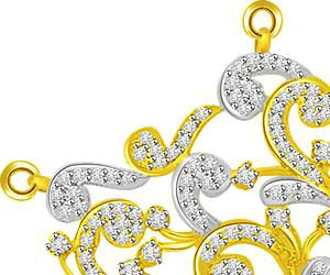 Web Of Life Two Tone Diamond & Gold Pendants